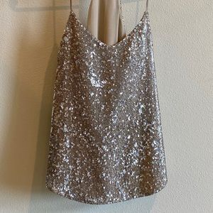 Fun and sparkly gold cami
